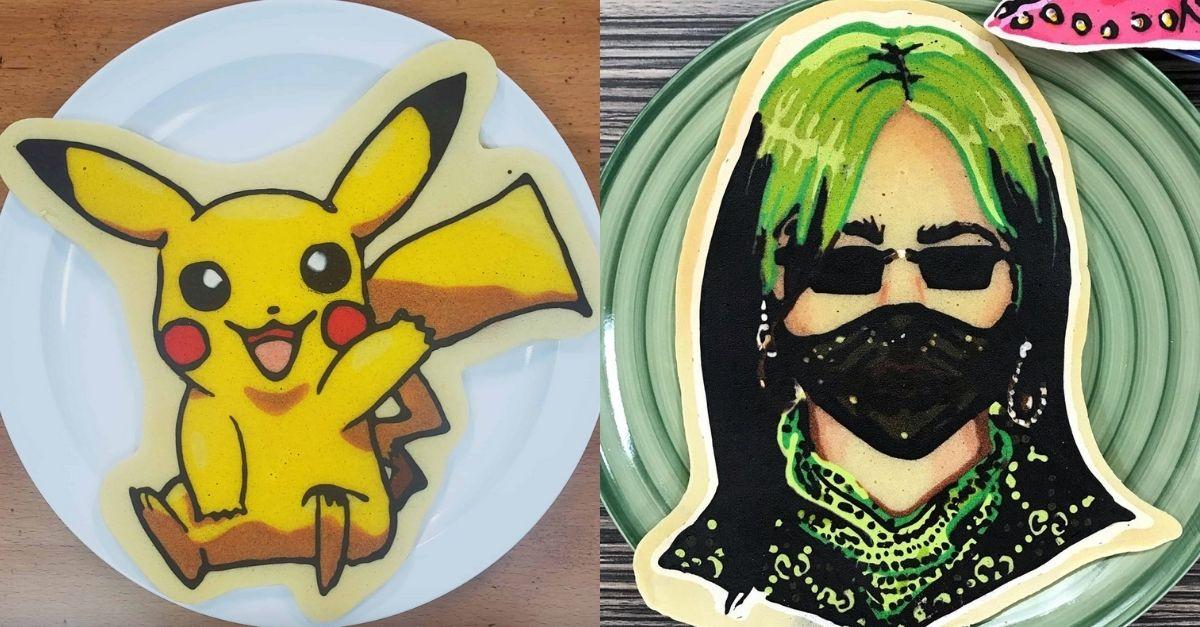 Arte culinaria, ecco i ritratti fatti di pancake da ammirare (e poi mangiare)