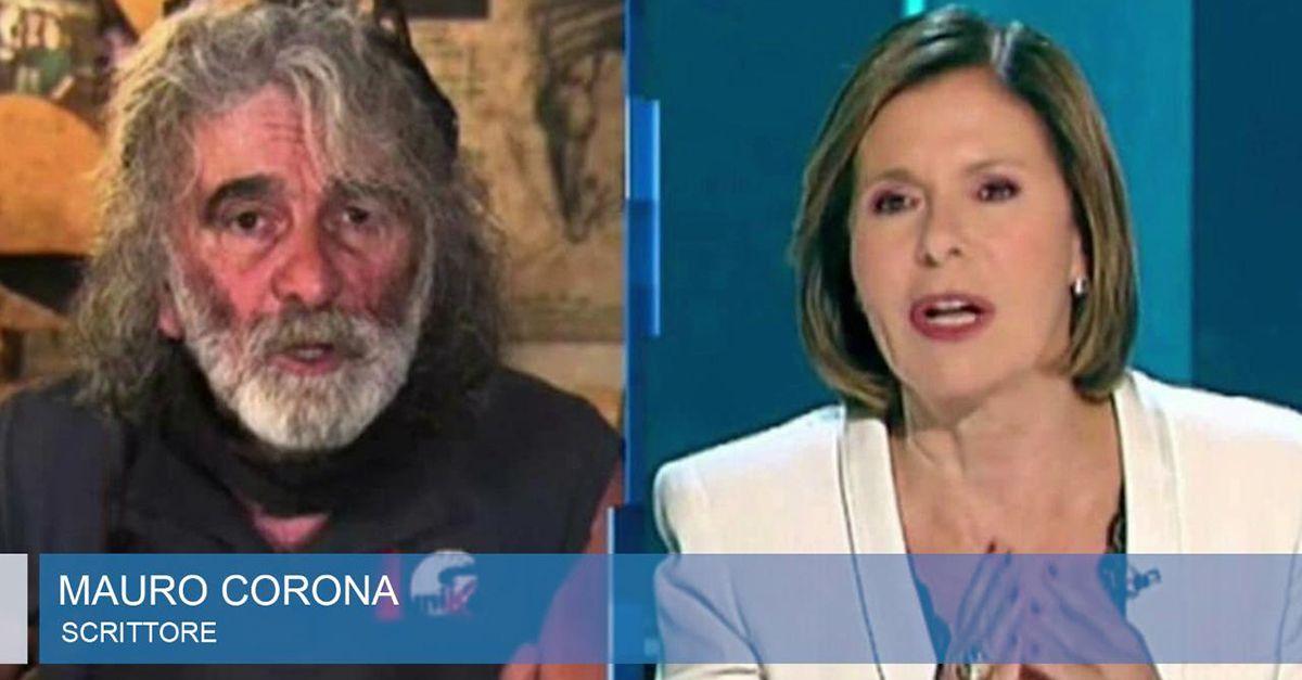 """Mauro Corona chiede scusa a Bianca Berlinguer: """"Sono stato maleducato e cafone"""""""