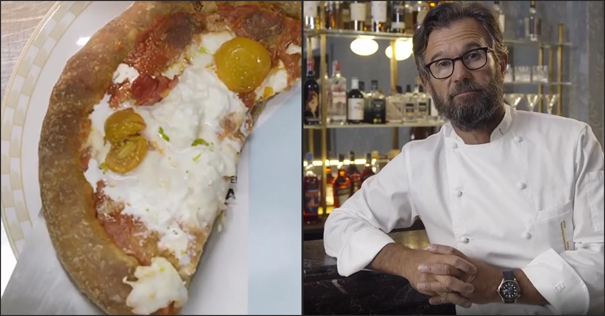 Milano, la provocazione dello chef Carlo Cracco: nel ristorante in Galleria serve la pizza senza una fetta