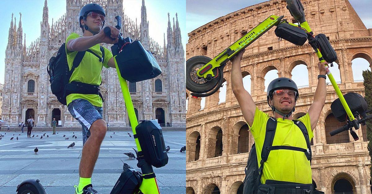 Da Milano a Roma in monopattino: lo youtuber Jakidale racconta l'avvenutura