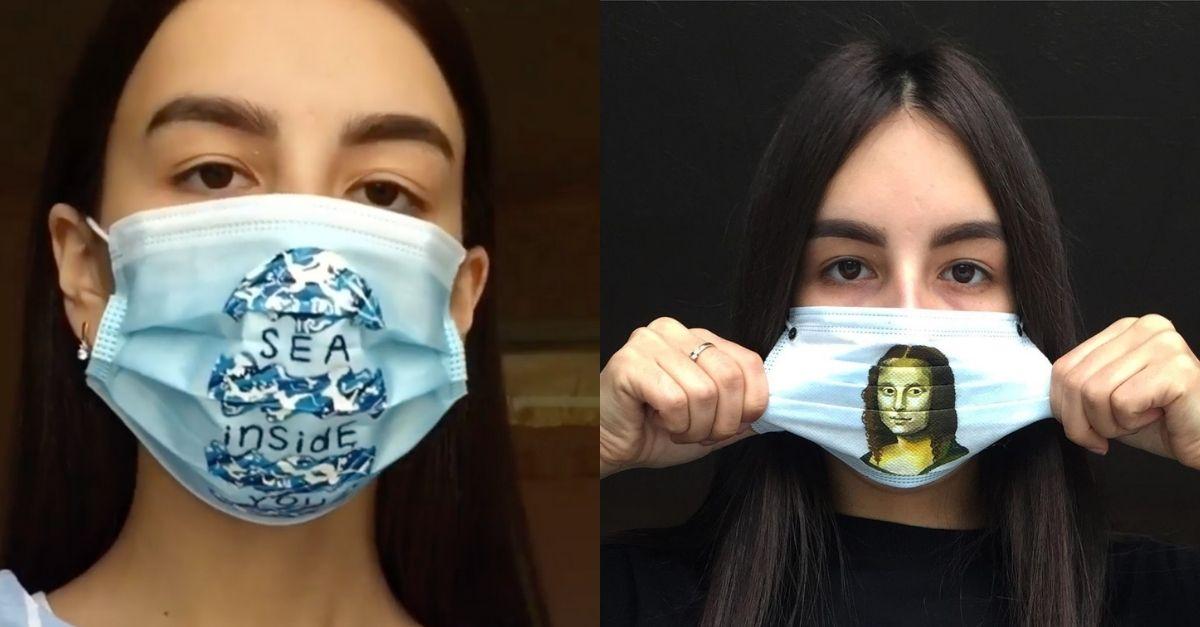 Come trasformare la mascherina in un accessorio a 'regola d'arte': l'idea di una ragazza