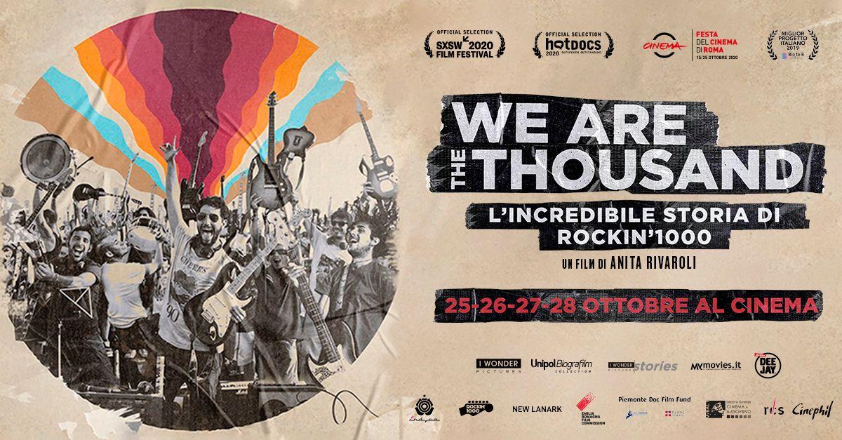 """""""We Are The Thousand – L'incredibile storia di Rockin'1000"""" arriva al cinema"""