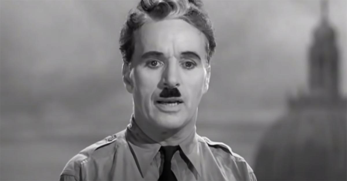 """""""Il grande dittatore"""" compie 80 anni e le parole di Chaplin sono più attuali che mai"""