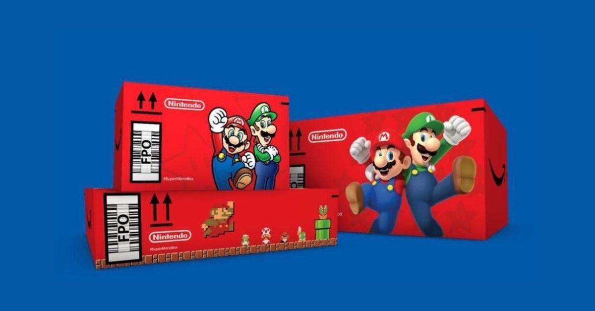 Super Mario compie 35 anni e Amazon lo celebra con un pacco tutto dedicato a lui