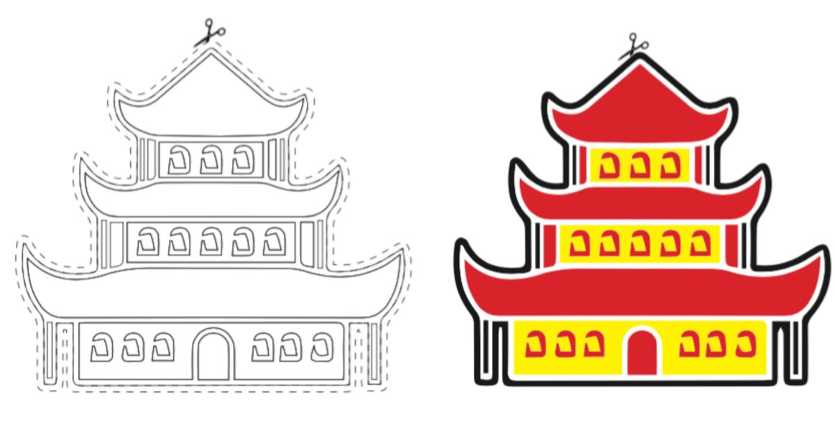 Pinocchio, ecco la Pagoda da stampare, colorare e ritagliare!