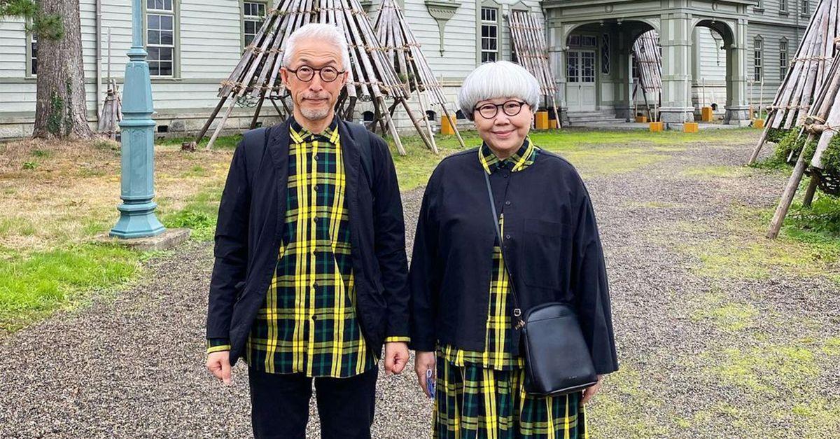 Due cuori e un outfit: la coppia giapponese che veste in pendant da oltre 40 anni