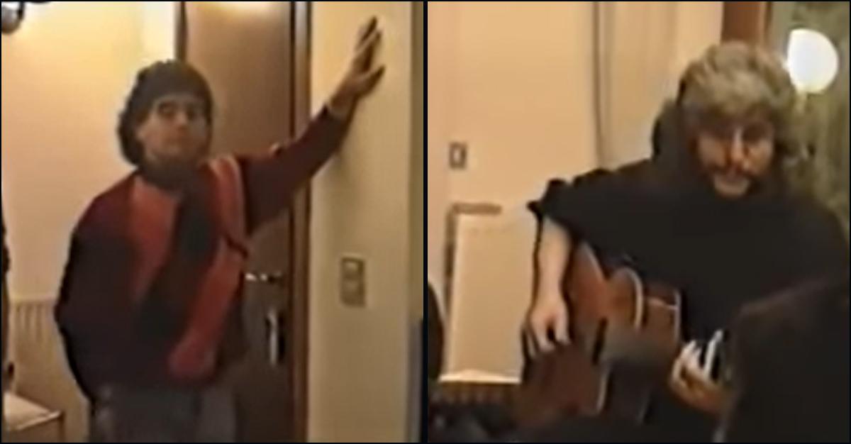 """Maradona e Pino Daniele cantano """"Je so' pazzo"""" (a casa di Ciro Ferrara): il video"""