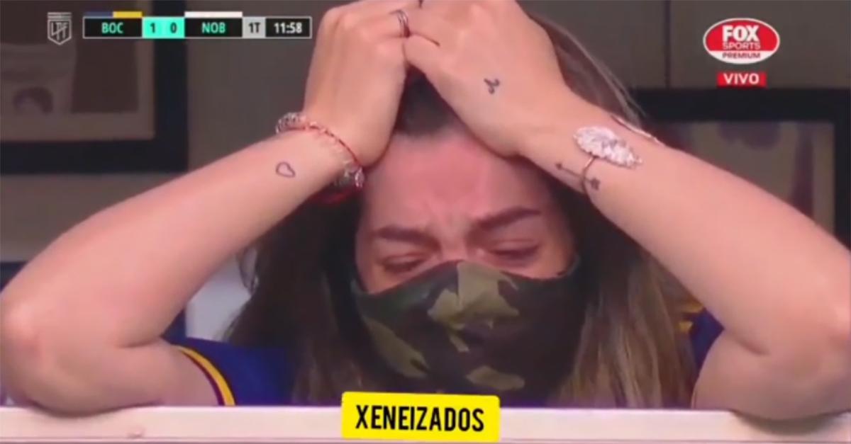 Buenos Aires, il Boca segna e celebra Maradona: la figlia Dalma si commuove in tribuna