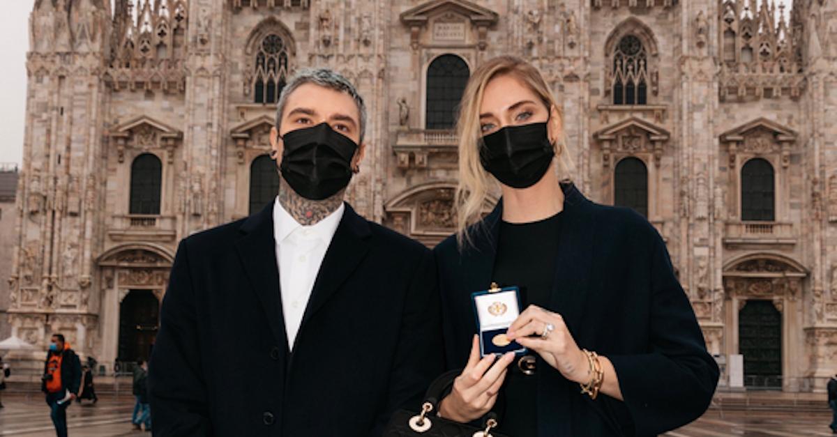 """Ambrogino d'oro a Fedez e Chiara Ferragni: """"Non abbandoniamo il nostro paese"""""""