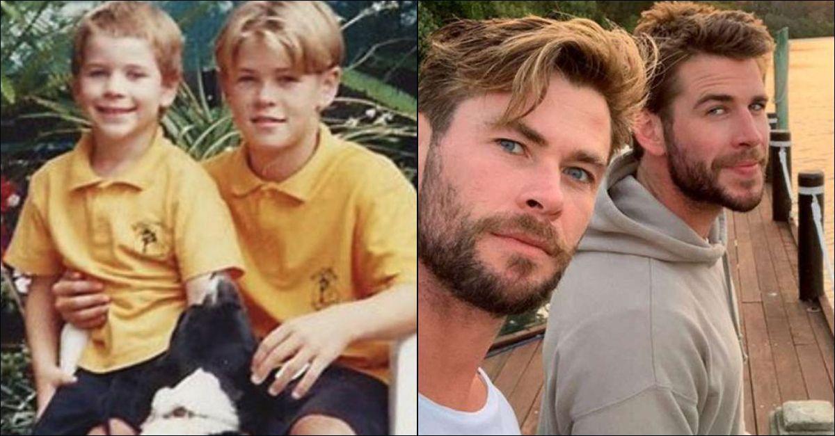 """Chris Hemsworth festeggia il compleanno del fratello Liam con un tenero scatto """"vintage"""""""