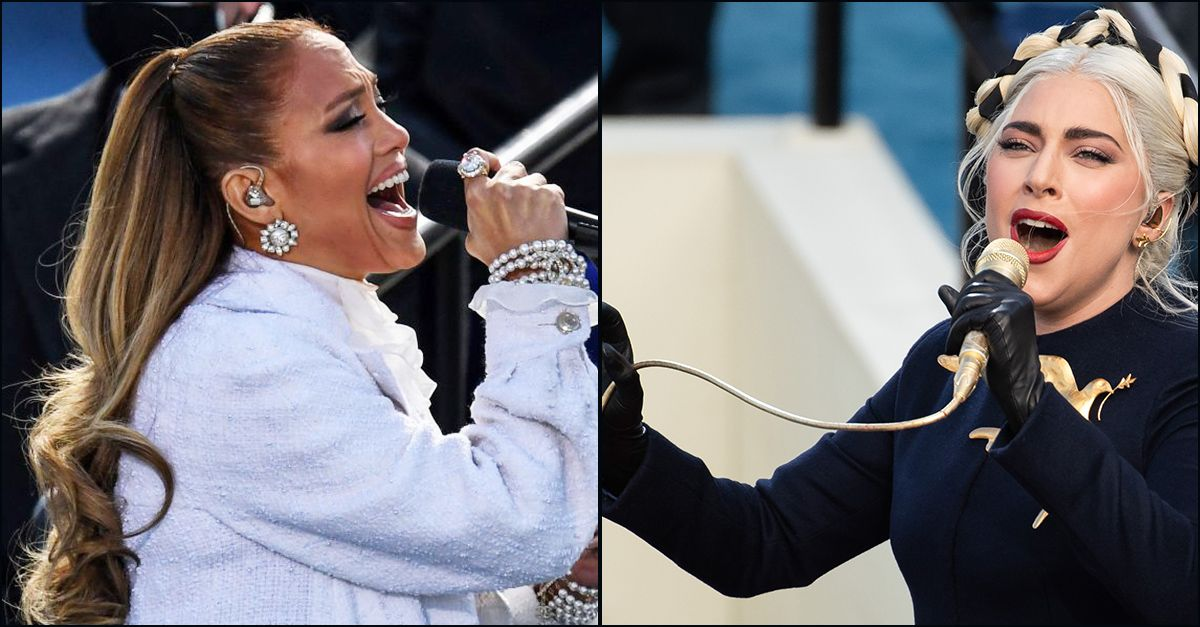 Inauguration Day, Lady Gaga e Jennifer Lopez cantano per Biden: le esibizioni