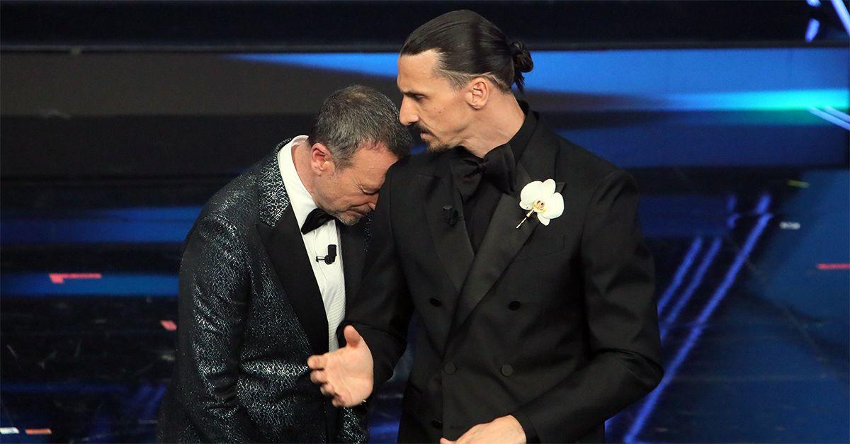 """Sanremo, Zlatan ad Amadeus: """"Per te è un onore avermi qua"""": lo show di Ibra"""