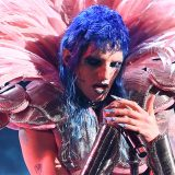 Sanremo, Achille Lauro piange lacrime di sangue sul palco dell'Ariston