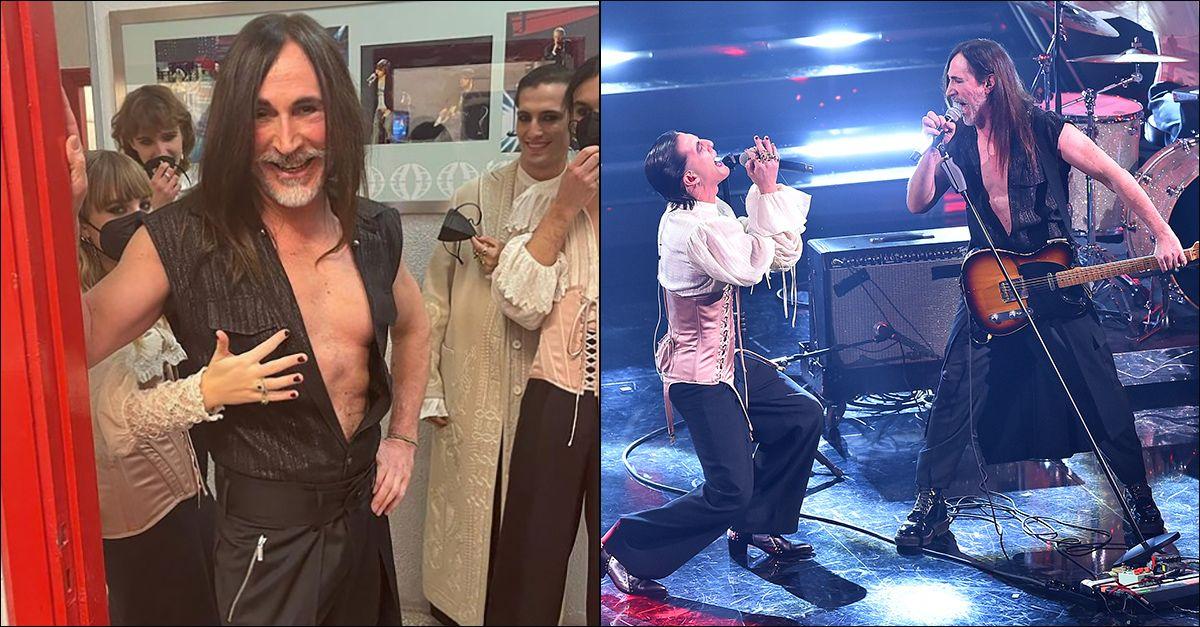 """Sanremo, Maneskin e Manuel Agnelli in """"Amandoti"""": la cover è puro rock"""