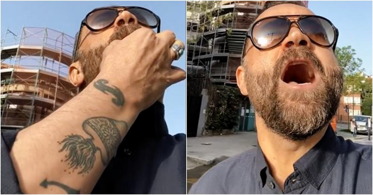 Milano, Fabio Volo urla in bresciano verso i ponteggi: i muratori rispondono al richiamo
