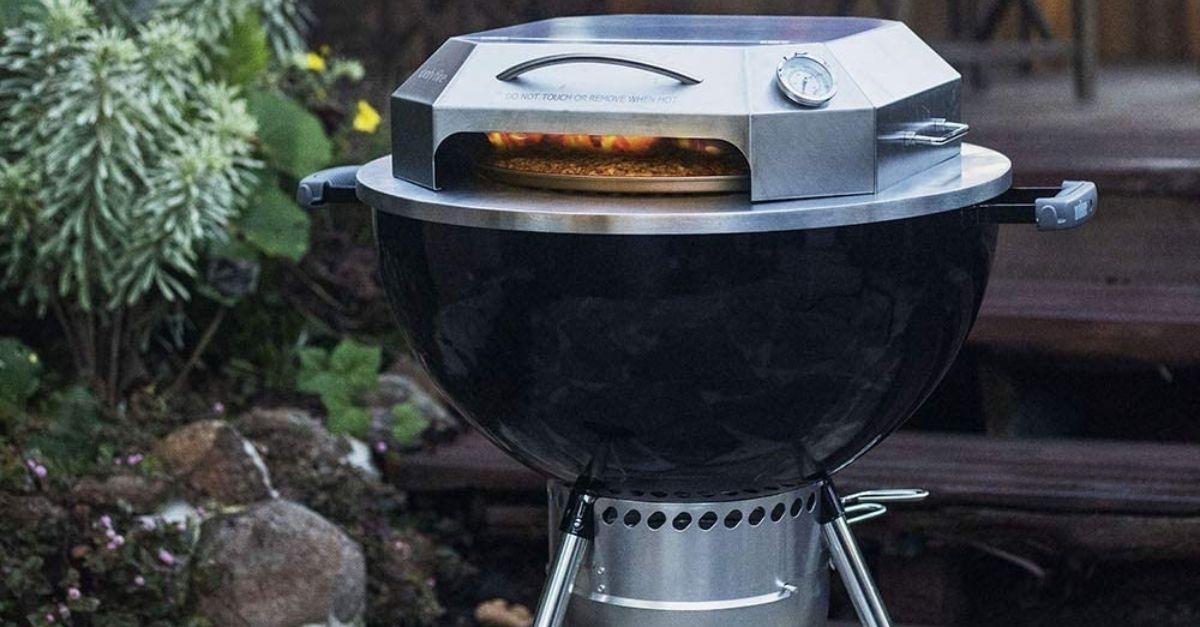 Ecco il barbecue che cuoce la pizza