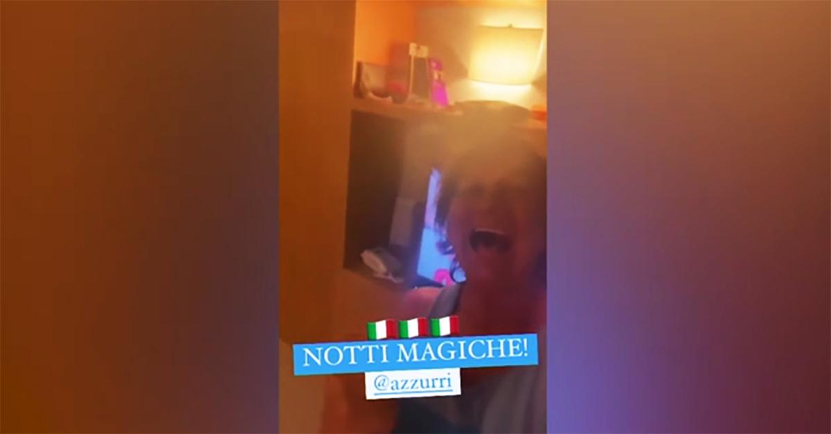 """Euro 2020, Gianna Nannini canta la sua """"Notti Magiche"""" dopo la vittoria dell'Italia"""