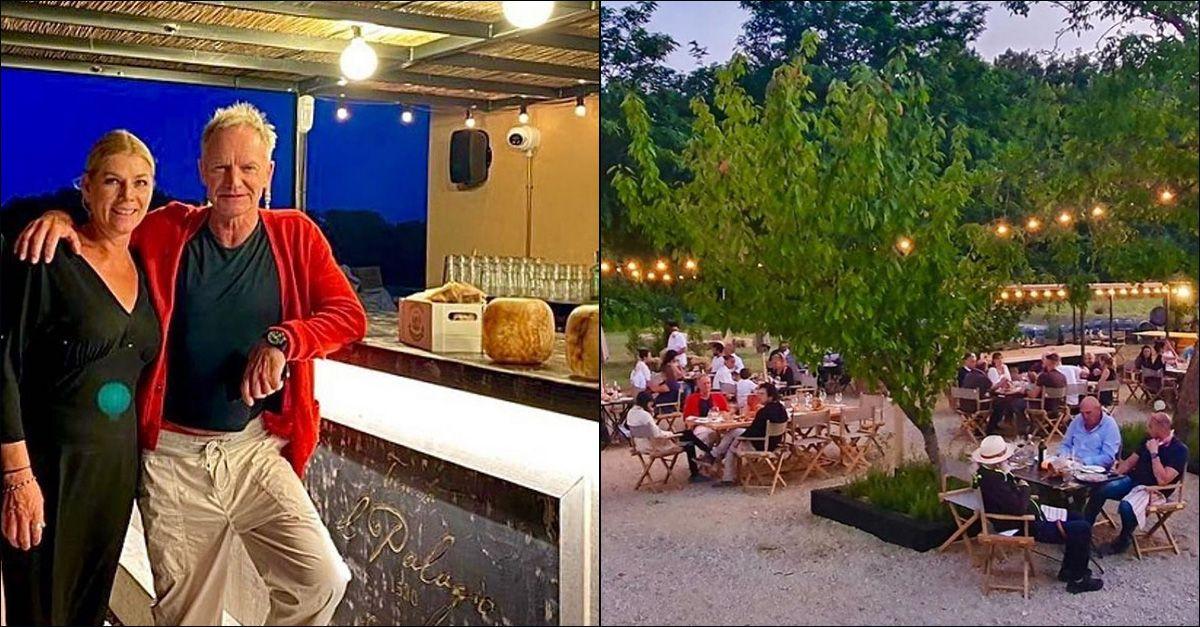 """Sting apre una pizzeria a """"Il Palagio"""", la sua tenuta in Toscana"""