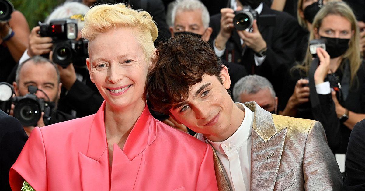 "Cannes, lo scherzo di Tilda Swinton a Timothée Chalamet: ""Chiamatelo col mio nome"""
