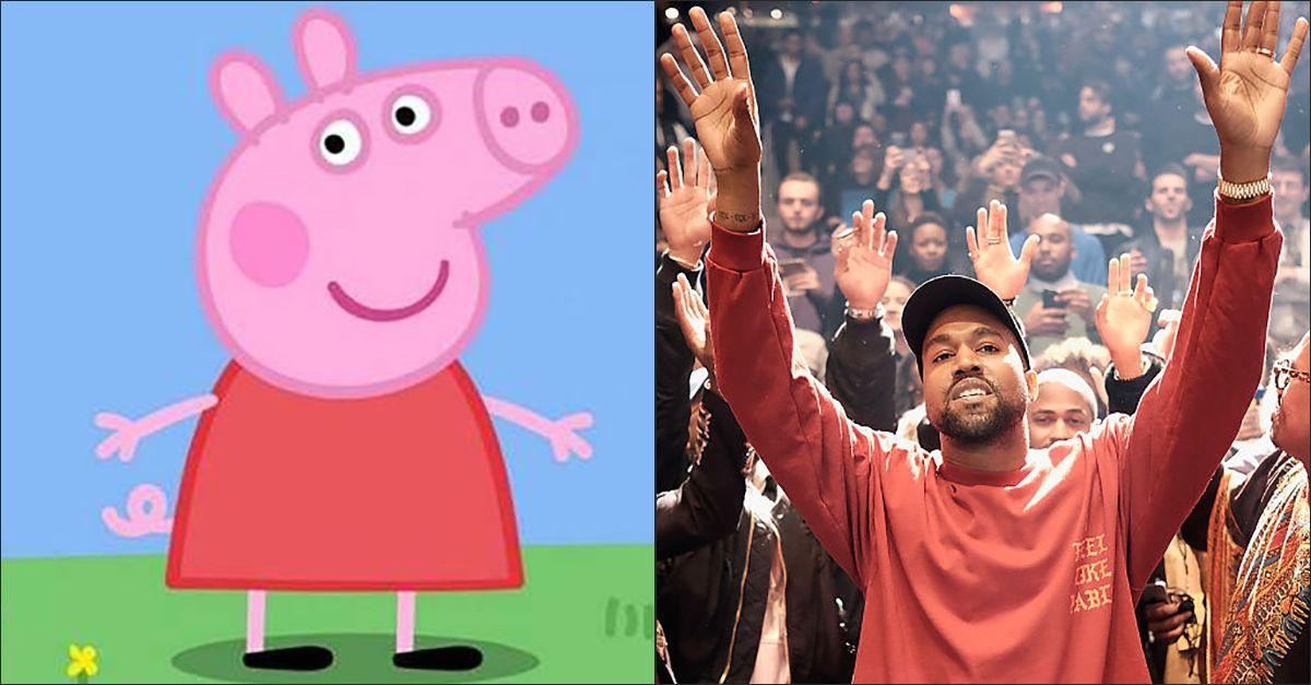 """Peppa Pig batte Kanye West e lo """"trolla"""" su Twitter: """"Io non ho bisogno degli stadi"""""""