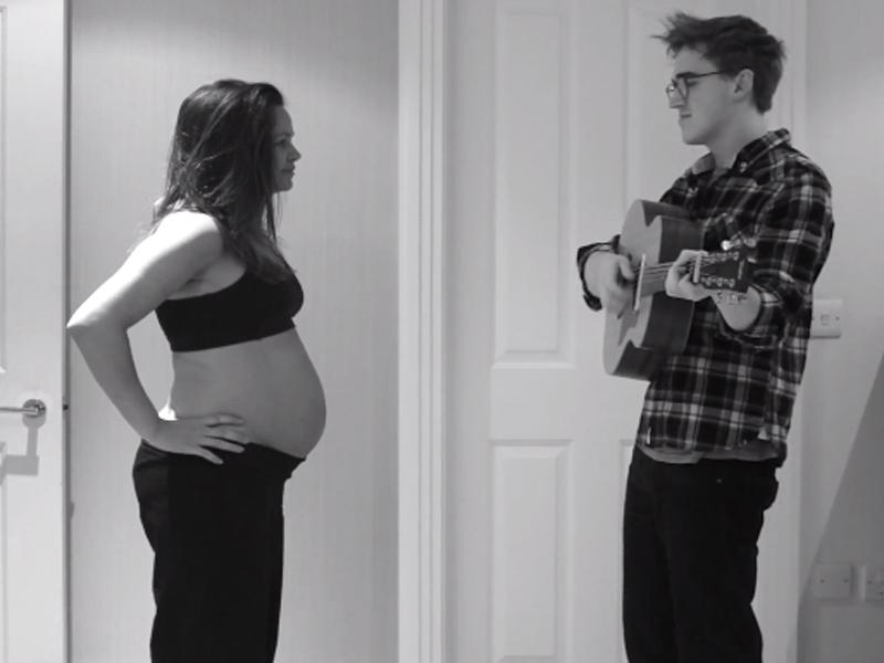 9 mesi d'amore in 3 minuti: la gravidanza in timelapse