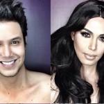 Da Beyoncé a Rihanna, da Megan Fox a Kim Kardashian: con il make up questo ragazzo si trasforma nelle celebrità