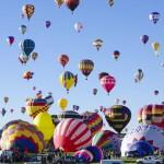 Lo spettacolo del Festival delle mongolfiere di Albuquerque