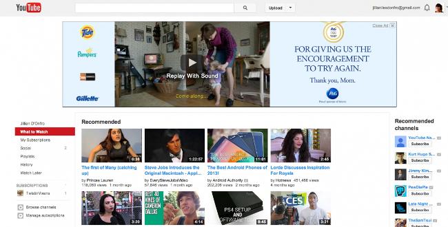 Foto nostalgia web come apparivano i siti famosi agli for Youtube oggi