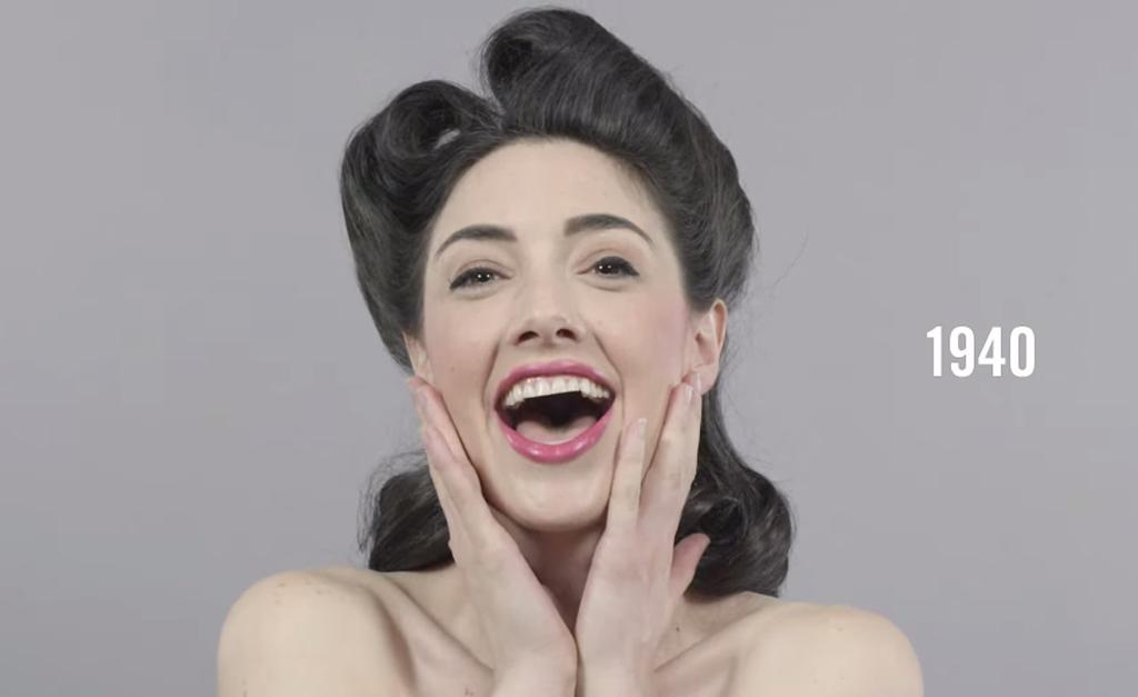 100 anni di bellezza in 60 secondi: com'è cambiato il look dal 1910 ad oggi