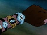 Oliver and company, 1988 - Topolino raffigurato nel quadrante dell'orologio