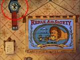 L'icona appare sull'orologio appeso alla parete