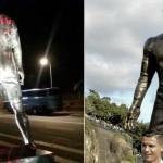 Oltraggiata la statua di Cristiano Ronaldo