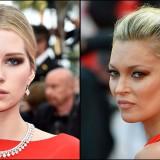 Kate e Lottie Moss, sorelle in rosso a Cannes