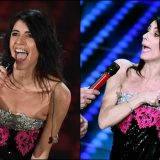 """Giorgia incanta Sanremo e l'abito le scivola di dosso: """"Scusate, non sono molto dotata"""""""