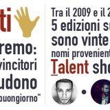 5 vincitori di 7 recenti edizioni del Festival di Sanremo arrivano dai Talent Show