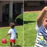 Il figlio di Melissa Satta segna come Ronaldo ed esulta come papà Boateng
