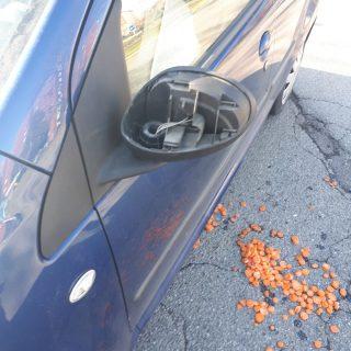Truffa dello specchietto con carote surgelate
