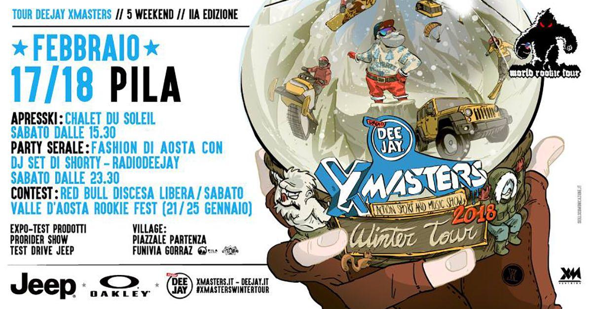 DEEJAY Xmasters Winter Tour il prossimo weekend a Pila con: Francisco Porcella, DJ Shorty e il Red Bull Discesa Libera