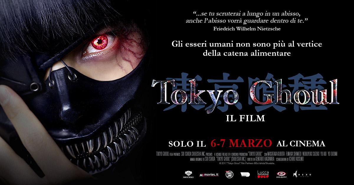 Arriva al cinema il live action del manga Tokyo Ghoul. Nei cinema solo il 6 e 7 marzo. Guarda la clip in esclusiva!