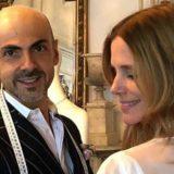 Filippa Lagerback, prima prova dell'abito da sposa con Enzo Miccio