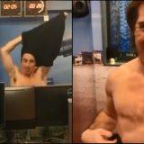 Lo striptease di Fargetta per la Ginger (e per tutte le donne) nello studio di Albertino