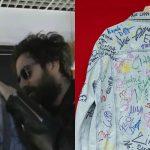 Il titolo del nuovo singolo dei TheGiornalisti scritto in segreto sulla giacca di Ale Lippi
