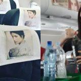 Laura Pausini hostess in aereo per presentare 'Fatti Sentire'. A bordo anche La Pina