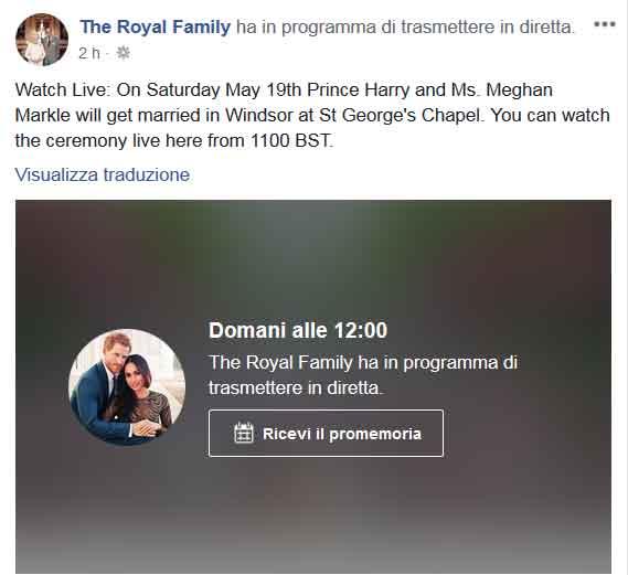 Matrimonio Harry In Streaming : Come guardare in diretta tv o streaming il matrimonio tra