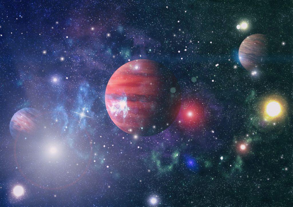 Cielo Rosso Di Notte.5 Pianeti Visibili A Occhio Nudo Spettacolo Dopo Il Tramonto