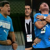 Maradona show sugli spalti di Argentina-Nigeria: gestacci, balli e ricovero in ospedale