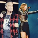 "Londra. Taylor Swift e Robbie Williams cantano insieme ""Angels""  Wembley"