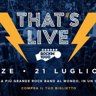 Rockin'1000 questo weekend a Firenze