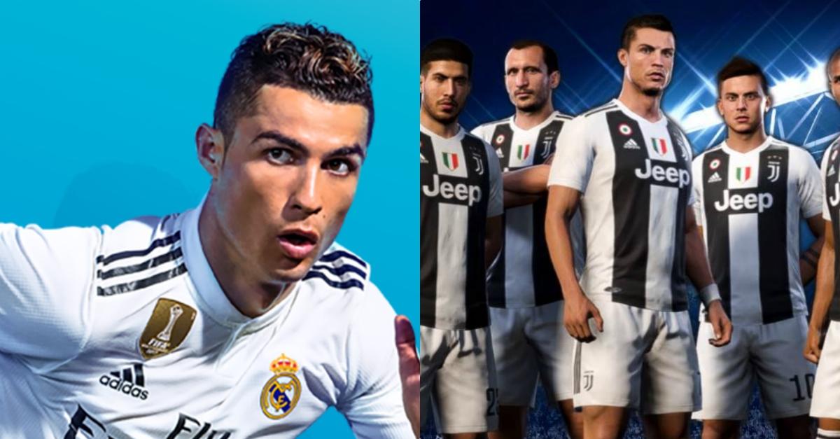 Cristiano Ronaldo indossa la maglia della Juventus anche su Fifa 19