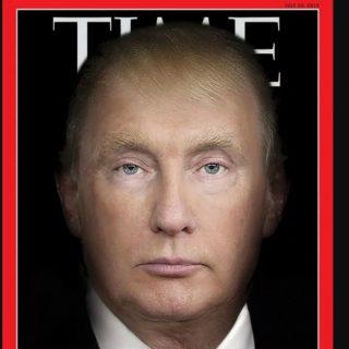 Trump e Putin in un unico volto sulla copertina del Time